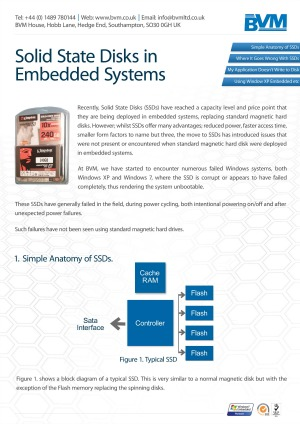 Solid State Disks in Embedded Systems - BVM Whitepaper
